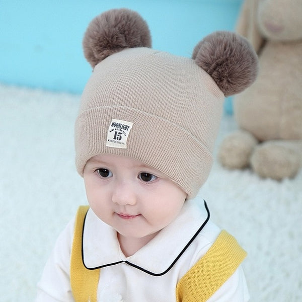 0-6Y Knitted Kids Beanie Cap Infant Baby Boy Girl Hat Warm Children Baby Autumn Winter Girls Hat For Kids Toddler Bonnet