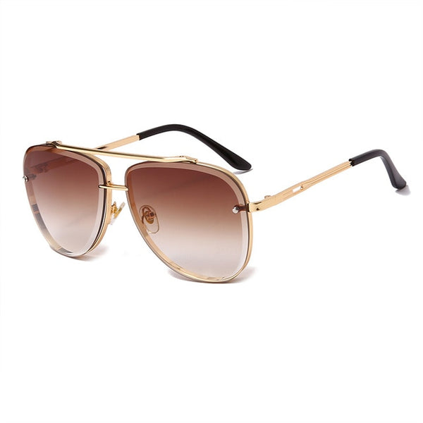 New Fashion Sunglasses Luxury Brand Women Men Vintage Metal Gradient Sun glasses Retro Sunglasses UV400 Shades