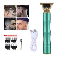 Men's Hair Trimmer Clipper Professional Baldheaded Cutter Beard Shaving Precision Finishing Hair Cutting Machine Adult Kid