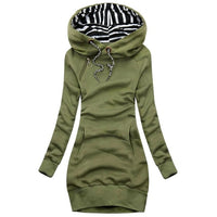 Women Hoodies Dress Autumn Winter Casual Hooded Sweatshirt Dresses 2020 New Ladies Long Sleeve Round neck Pocket Pullover Dress