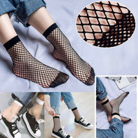 5 Pairs/Lot Sexy Short Wild Calf Fishnet Socks Women's Accessories Black Hollow Out Mesh sock