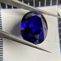12x16mm Oval Shape 5A Quality Hand Cut 13 Carat Loose Corundum Royal Blue Sapphire Gemstone Ring