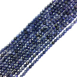 Natural Blue Sapphires Gem Beads Micro Faceted Beads 2mm 3mm 4mm Faceted Gem Spacer Beads,Small Tiny Beads,1 string of 15.5""