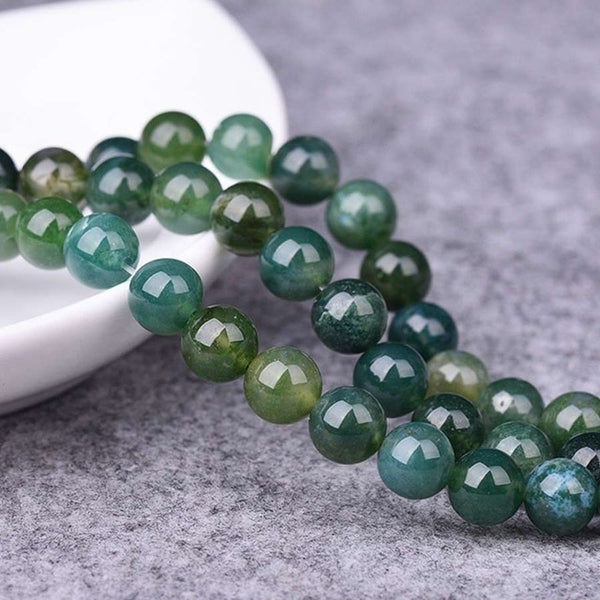 4 6 8 10 12mm Natural Indian Agates Round Loose Stone Jewellery Beads Agates Bead DIY Bracelet Necklace Accessories