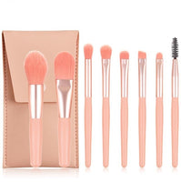 8pcs/set Mini Makeup Brushes Set Matte Wooden Handle Portable Soft Hair Eyeshadow Foundation Concealer Blusher Makeup Brushes