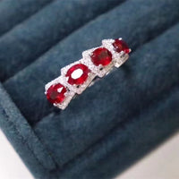 Natural Ruby Ring, 925 Sterling Silver, Simple and Exquisite Style, Cheap Price, Recommended By The Owner