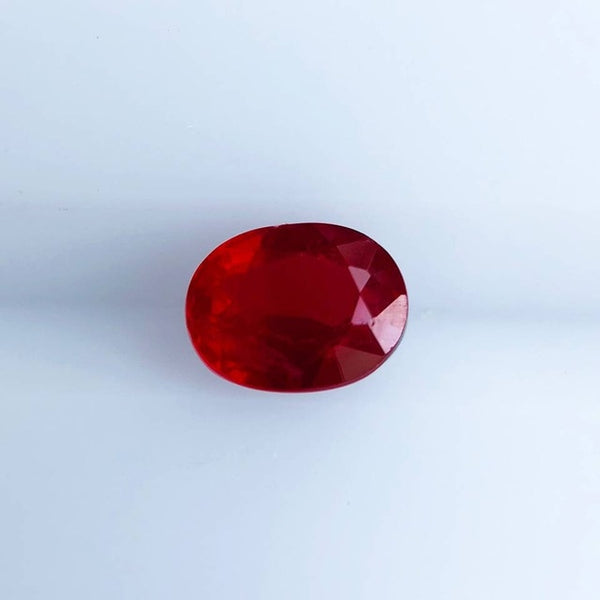 Natural Heat-Free Pigeon Blood Red Grade Ruby, Vitreous Clarity
