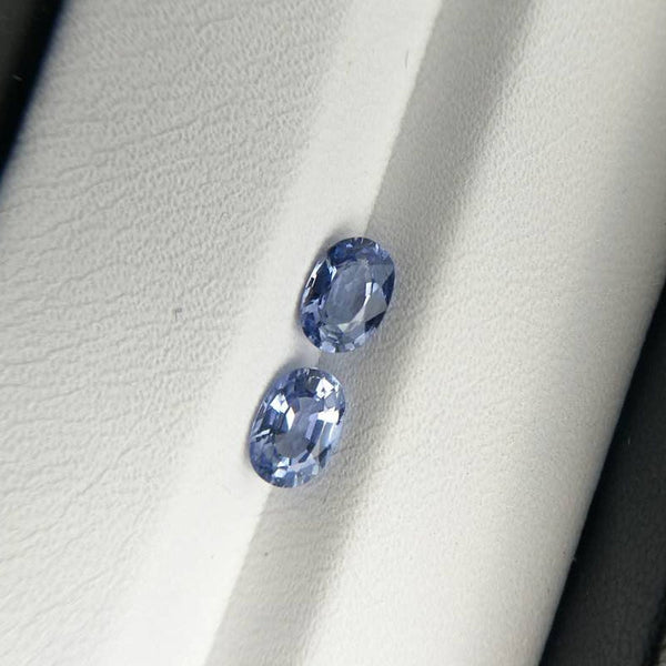 Natural Light Colour Blue Sapphire Oval cut 4*6 mm 0.5 ct Blue Sapphire for Gemstone Jewellery