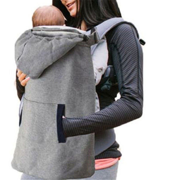 Toddler kids Girls Boys Baby Newborn Pocket Casual Carrier Wrap Comfort Sling Winter Warm Cover Cloak Blanket Grey one pieces