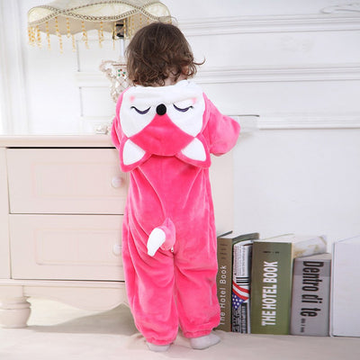 Baby Animal Onesie <br>Pink Fox