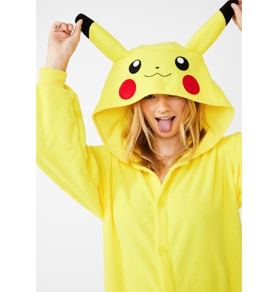 Adult Pokemon Onesie <br>Pikachu (womens)