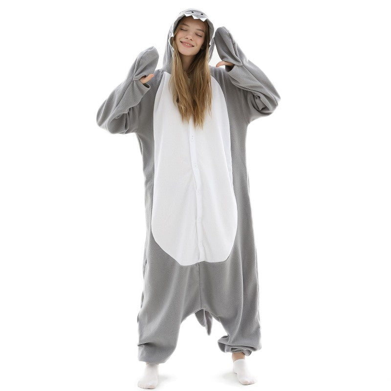 Adult Animal Onesie <br>Shark (Womens)