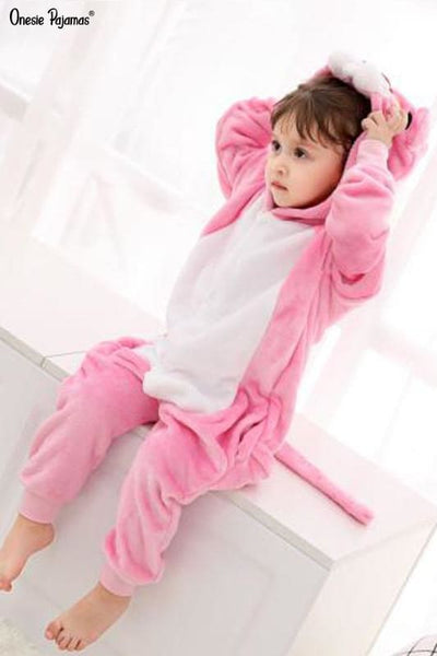 Pink panther onesie baby