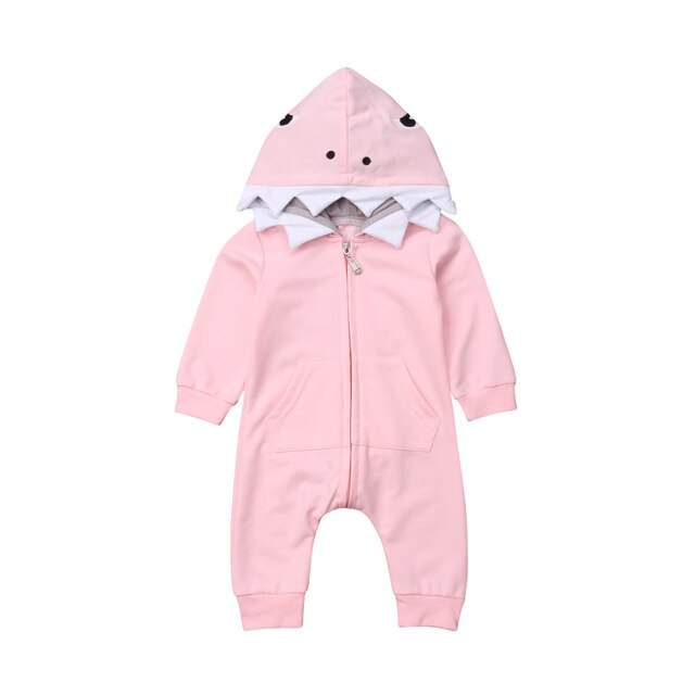 Baby Animal Onesie <br>Pink Shark (Girl)