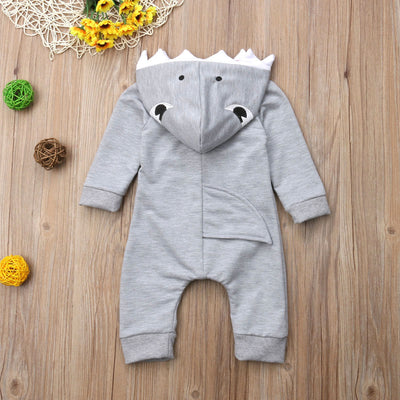 Baby Animal Onesie <br>Gray Shark (Boy)