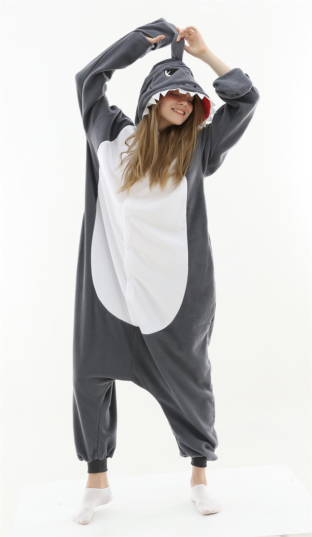 Adult Animal Onesie <br>Gray Shark