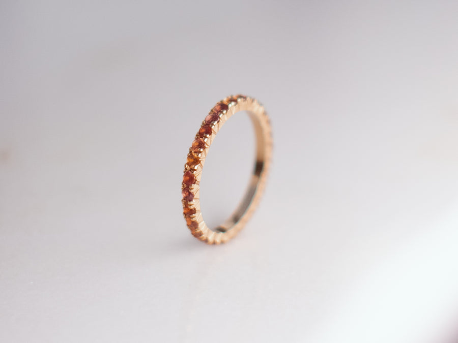 Orange Gold Sapphire Tulip Ring