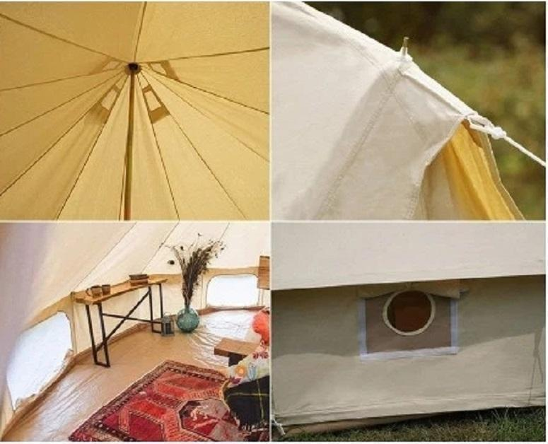 4M CANVAS BELL GLAMPING TENT