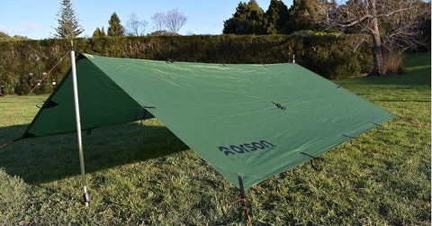 Shadow 3x3m Tarp, 21 Tie Outs, 950g, Waterproof + Durable