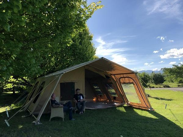 6X6M THE BACH GLAMPING TENT - PVC Roof, Canvas Tent, Aluminium Frame