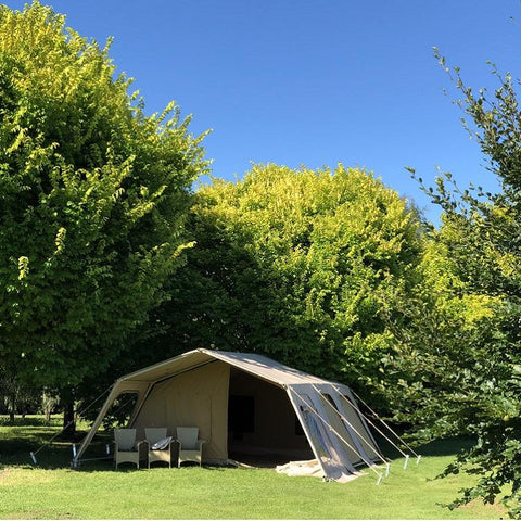 THE BACH - 6X6m GLAMPING TENT, PVC Roof, Canvas Tent, Aluminium Frame, 210kg