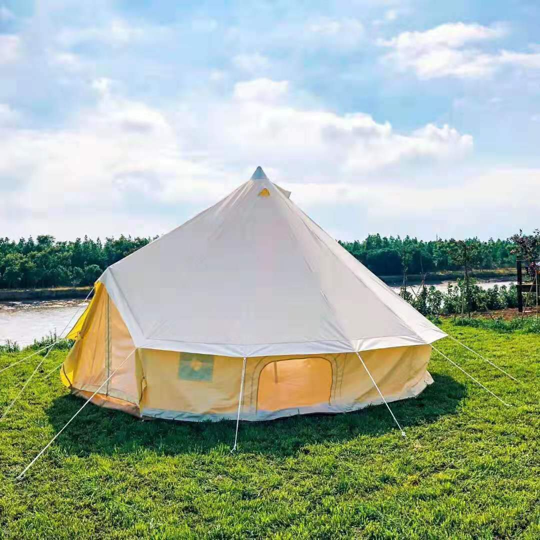 6M CANVAS BELL GLAMPING TENT
