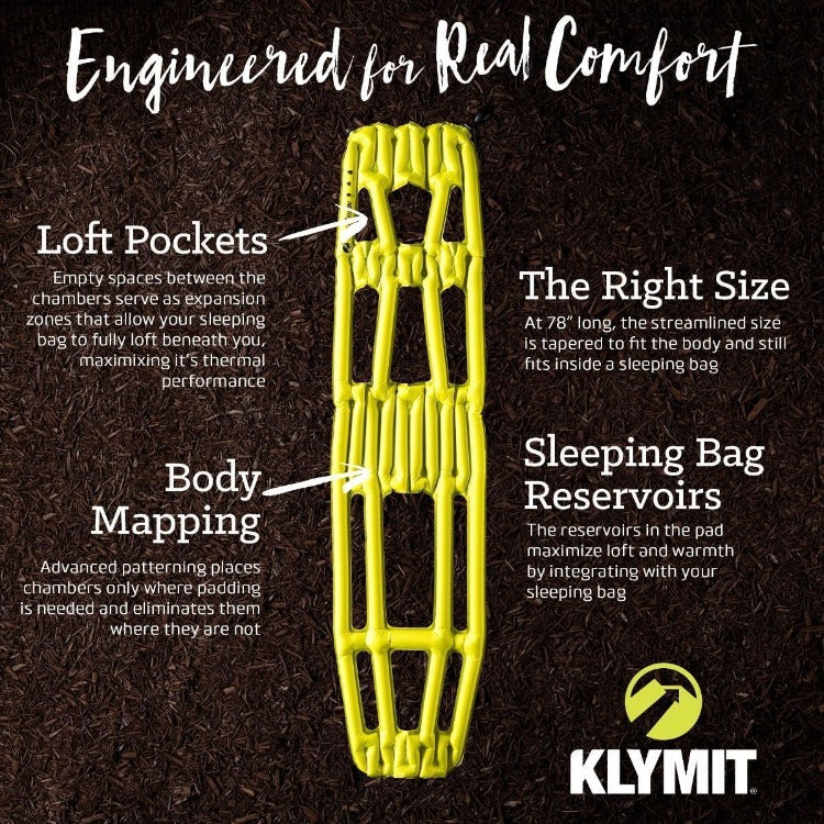 Klymit Inertia X Frame Inflatable Pad, Ultralight 258g