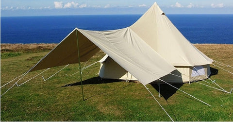 3x4m Square Awning for canvas Bell Tents