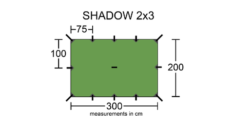 Intents Outdoors Shadow 2x3 Camping Tarp layout