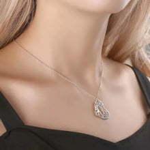 Load image into Gallery viewer, Filigree Heart Two Name Necklace