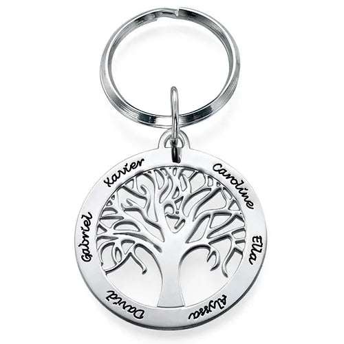 Sterling Silver Family Tree Key chain