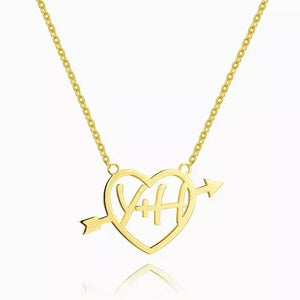 Cupid's Arrow Name Necklace