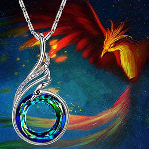 Flash Sale On This Phoenix Necklace With Swarovski Crystals. One Day Only!