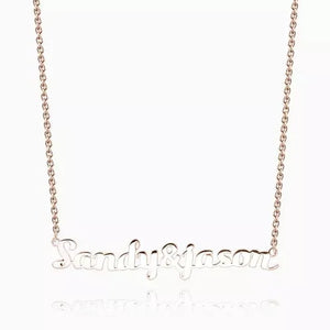 Customized Couple Name Necklace