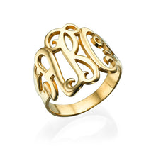 Load image into Gallery viewer, Monogram Ring With Three Letters