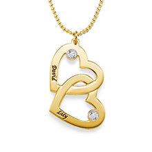 Load image into Gallery viewer, 18k Gold Plated Heart in Heart Necklace
