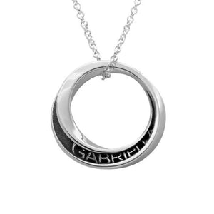 Spiral Open Circle Necklace