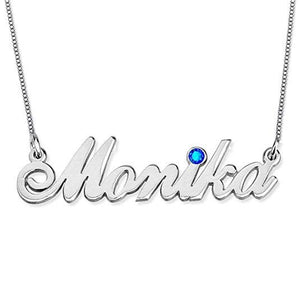 925 Sterling Silver Personalized Heart and Line Name Necklace Custom Made with Any Names