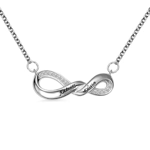 Engraved Infinity Double Name Necklace