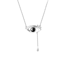 Load image into Gallery viewer, 100 Languages I Love You Projection Necklace Evil Eye Pendant
