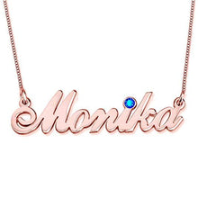 Load image into Gallery viewer, 925 Sterling Silver Personalized Heart and Line Name Necklace Custom Made with Any Names