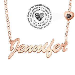 Projection Granddaughter Necklace