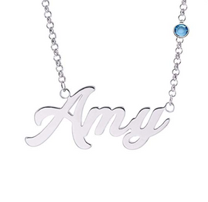 Personalized Name Necklace Custom Inscribed Pendant Jewelry 925 Sterling Silver with Any Name