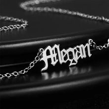 Load image into Gallery viewer, Old English Name Necklace