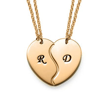 Load image into Gallery viewer, Couple Heart Initial Necklace