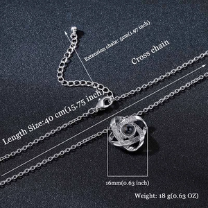 Infinity Love Knot | Say I love you in 100 Languages Necklace
