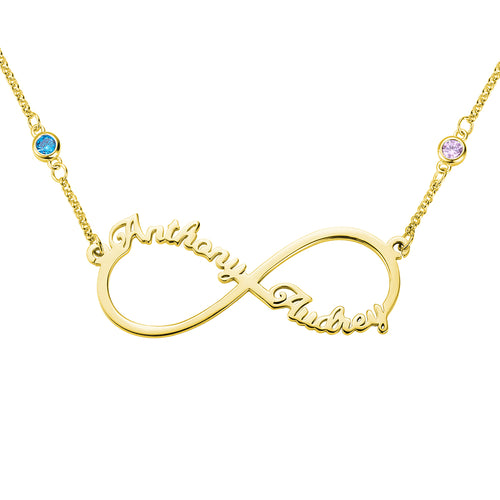 Personalized Infinity Two Name Necklace