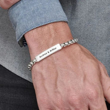 Load image into Gallery viewer, Sterling Silver ID Bar Bracelet for Men