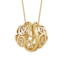 Load image into Gallery viewer, 3D Monogram Necklace