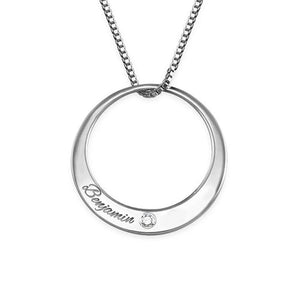Circle Necklace with Cubic Zirconi